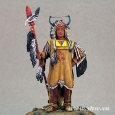 Мато-Топа (4 медведя). Знаменитый вождь Манданов. 19 век